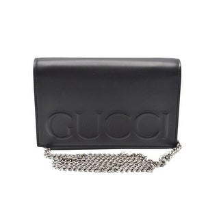 Gucci Womens Black Leather XL Mini Shoulder Bag