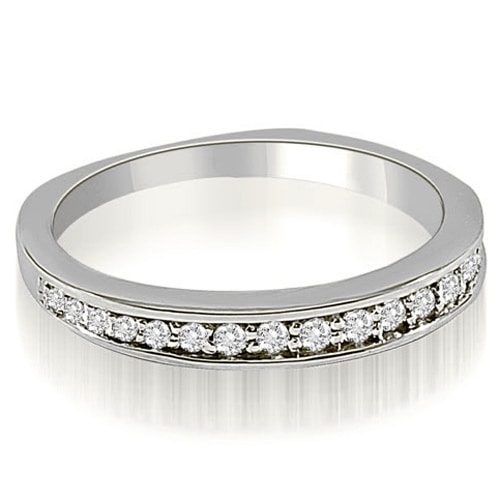 0.25 cttw. 14K White Gold Round Cut Diamond Wedding Ring