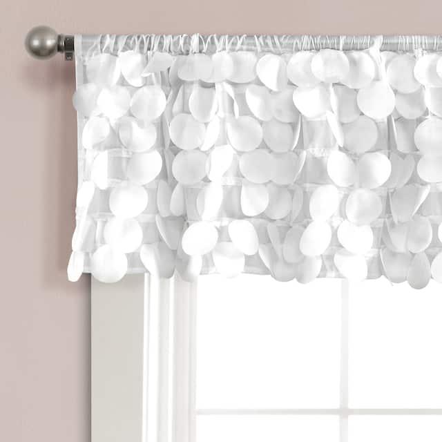 Lush Decor Gigi Window Curtain Valance - White