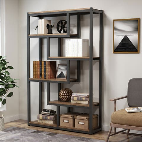 6-Tier Bookshelf, Modern Etagere Bookcase, Storage and Display Shelves