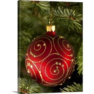 """Christmas tree bauble"" Canvas Wall Art"