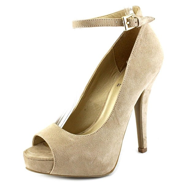 55fe9b70d80 Shop G By Guess Valora Women Open Toe Canvas Nude Platform Heel ...