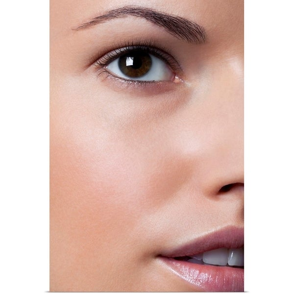 """""""Yound woman with clean make up, clos up"""" Poster Print"""