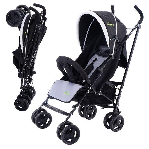 Costway Foldable Baby Stroller Buggy Kids Jogger Travel Infant Pushchair Lightweight - Black