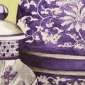 "Luxury Purple Three Vase Printing Pillow 18""X18"" - Thumbnail 2"