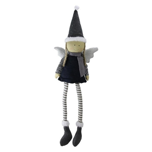 "26.5"" Sitting Angel with Dangling Legs Tabletop Decoration"
