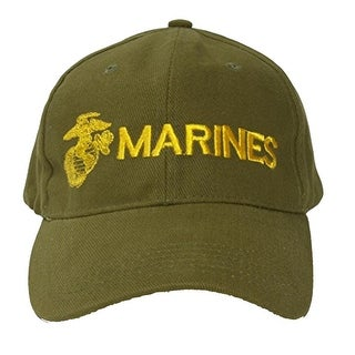 Marines Emblem Olive Drab Adjustable Cap
