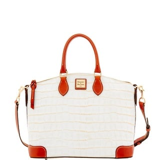 Dooney & Bourke Croco Satchel (Introduced by Dooney & Bourke at $248 in Jan 2017) - White