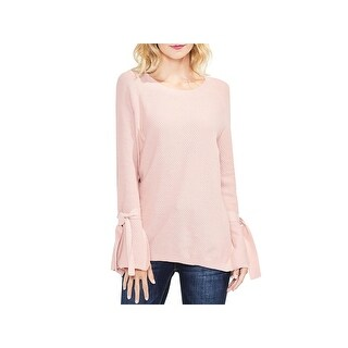 Vince Camuto Womens Pullover Sweater Knit Tie Sleeves