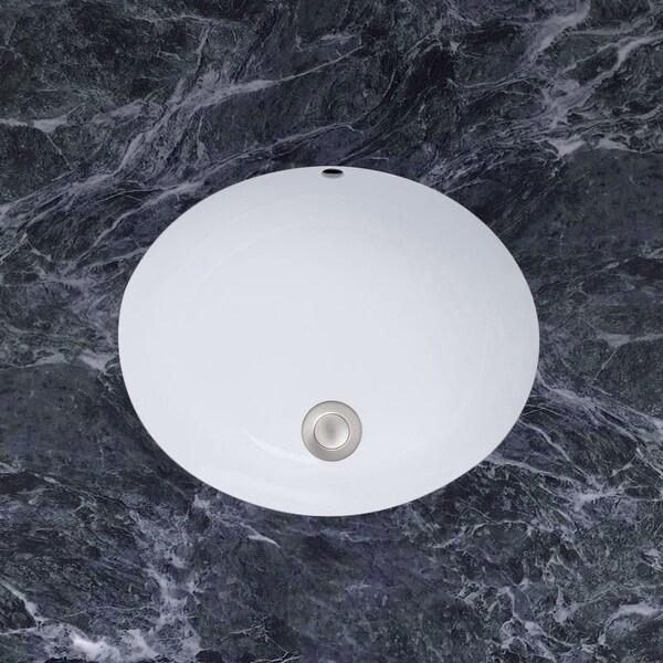 "Mirabelle MIRU1714A 17"" Porcelain Undermount Bathroom Sink with Overflow"