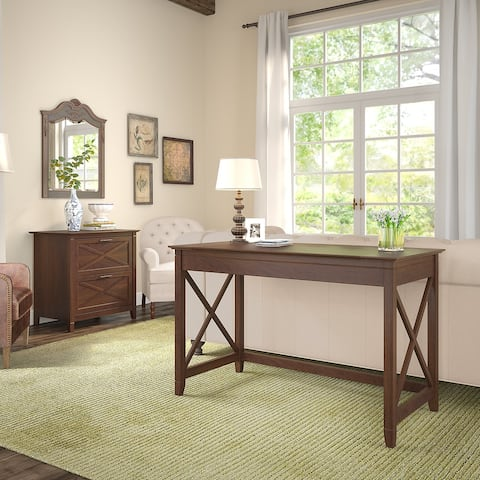 The Gray Barn Hatfield 48-inch Writing Desk with Lateral File Cabinet