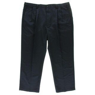 Haggar Mens Big & Tall Double Pleat Classic Fit Dress Pants - 50/32