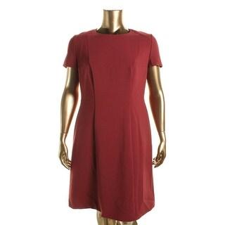 BOSS Hugo Boss Womens Dipela Woven Short Sleeves Wear to Work Dress