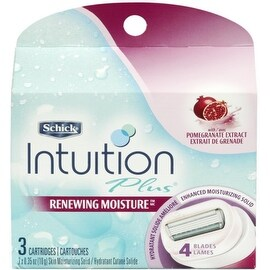 Schick Intuition Plus Renewing Moisture Cartridges Pomegranate 3 Each
