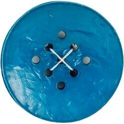 "Large Teal 1-3/4"" 1/Pkg - 9 Hole Buttons"