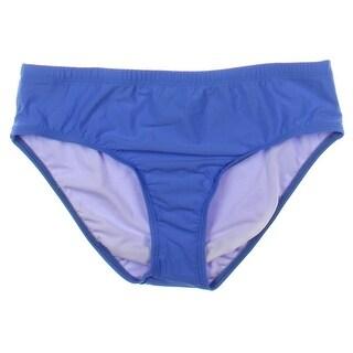 Athena Womens Ruched Mid-Rise Swim Bottom Separates