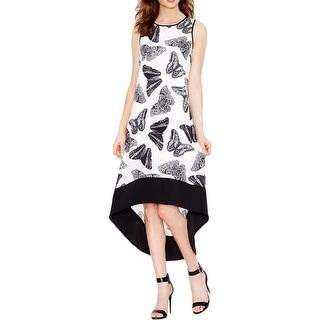 Kensie Womens Maxi Dress Butterfly Print High-Low Hem - m
