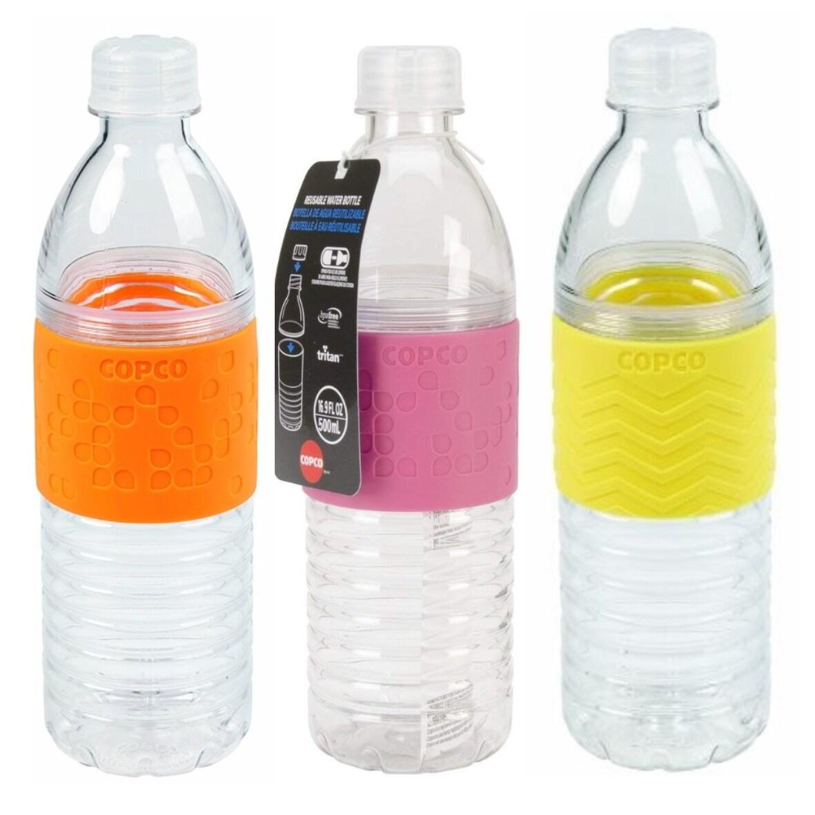 Copco Hydra Water Bottle Non Slip Sleeve BPA Free Reusable 16.9 Oz Light Blue