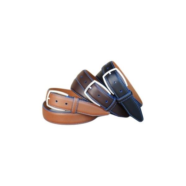 Lejon Western Belt Mens Novara Leather Feather Cognac