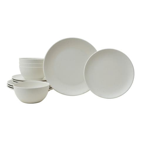 Bryce Ivory 12 Pc Melamine Dinnerware Set