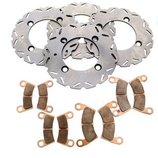 Brake Rotors and Brake Pads fits Polaris RZR S4 900 2018 Front and Rear RipTide