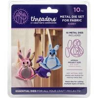 "Crafter's Companion Threaders Metal Fabric Nesting Dies -Rabbit Project 5.5""X4.3"" 10/Pkg"