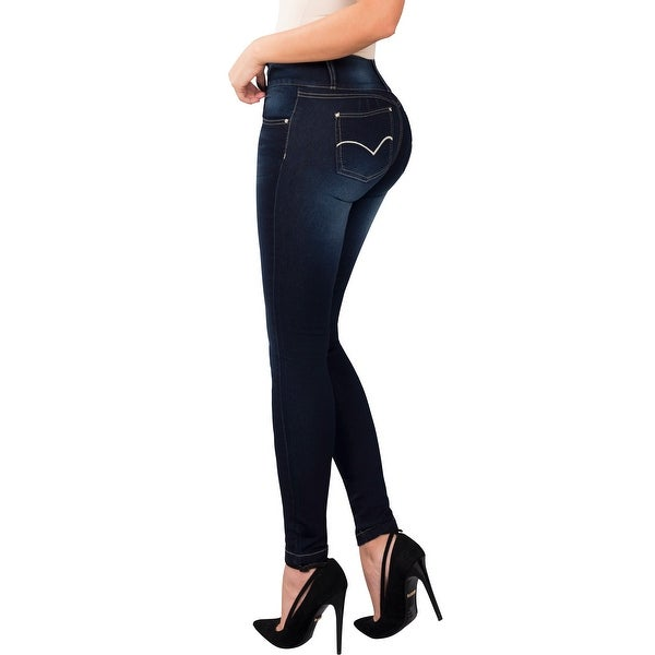 58e5714903 Butt Lifter Fashion Skinny Jeans High Rise Waist Push Up Authenthic Levanta  Cola Colombianos Blue 501GC