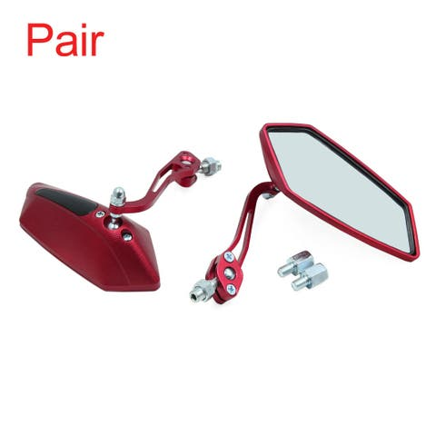 Pair Red Universal 8mm Motorcycle Motorbike Rearview Side View Mirrors