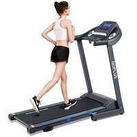 Goplus 2.25HP Folding Treadmill Electric Motorized Power Running Fitness Machine - Black