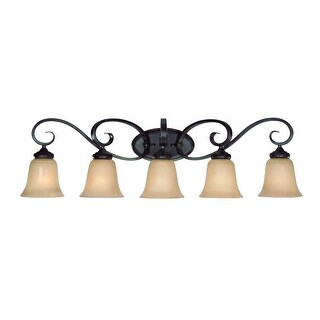 "Craftmade 25105 Stanton 5-Light Bathroom Vanity Light - 37"" Wide - english toffee - n/a"
