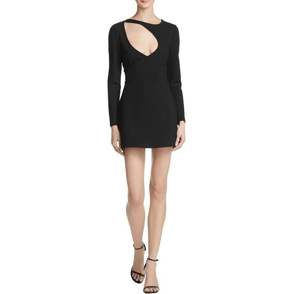 4f80a981746a0 Kendall + Kylie Womens Mini Dress Cut-Out Long Sleeves