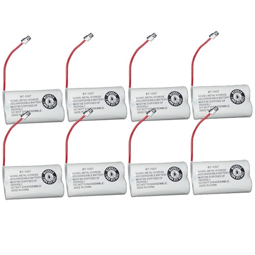 Replacement BT1007 (TL26602) Battery For Uniden DECT1383W / DECT1880-8C Phone Models (8 Pack)