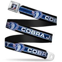 Cobra Head Full Color Black Red Blue White Cobra Jet Cobra Head Stripe Seatbelt Belt
