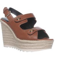 Coach Electra Slingback Espadrille Sandals, Saddle - 10 us