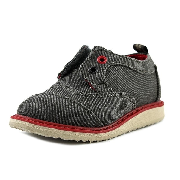 Toms Brogue Round Toe Canvas Oxford