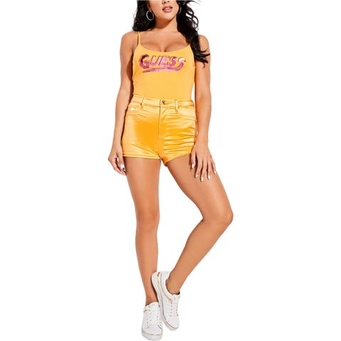 Guess Womens Jamaica High Rise Casual Chino Shorts