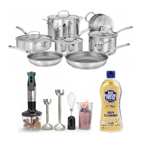 Cuisinart 95-11 Forever Stainless Collection 11-Piece Set Bundle