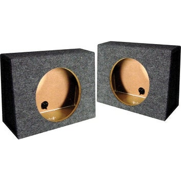 """*TW10S* EMPTY SPLIT WOOFER BOX; 10"""" ANGLE; QPOWER Mounts behind seat"""