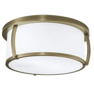 """Norwell Lighting 5634 Brooklyn 3 Light 15"""" Wide Flush Mount Ceiling Fixture with Shiny Opal Shades"""