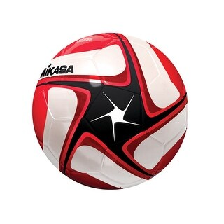 Mikasa SCE Series Size 5 Soccer Ball, Black/White/Red
