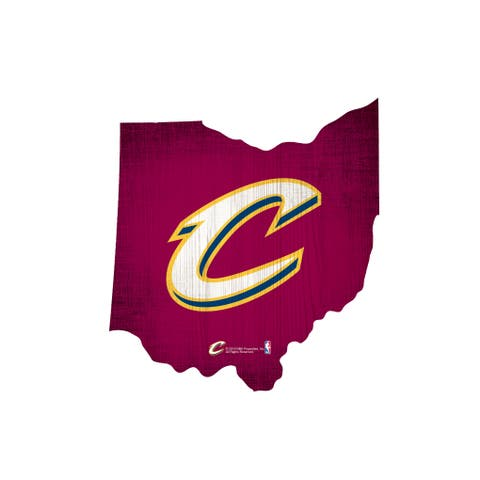 Cleveland Cavaliers Sign Wood Logo State Design
