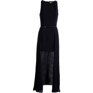 Halston Heritage Womens Evening Dress High/Low Cut-Out