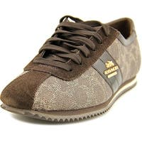 Coach Ivy Women   Canvas Brown Fashion Sneakers