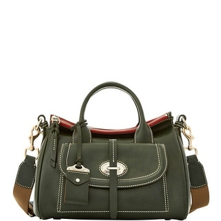 Dooney & Bourke Florentine Toscana Small Front Pocket Satchel (Introduced by Dooney & Bourke at $498 in Sep 2016) - pine green