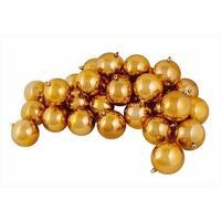 12-Pieces Shiny Mocha Brown Shatterproof Christmas Ball Ornaments 4