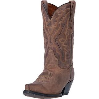 "Dan Post Western Boots Womens 11"" Trinity Orthotic Snip Brown DP2421"