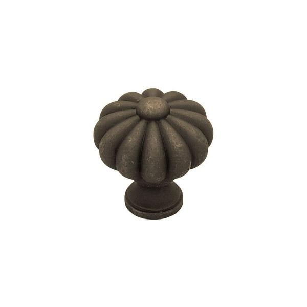 Individuals 1-3/8 Inch Diameter Mushroom Cabinet Knob - distress oil rubbed bronze