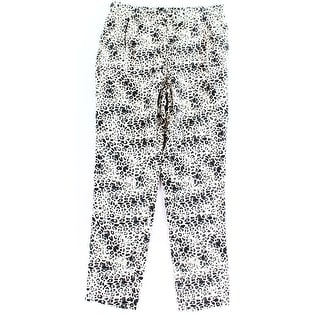 Vince Camuto NEW Black Women's Size Small S Animal Printed Drawstring Pants