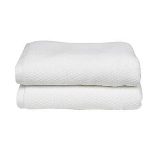 Everplush Diamond Jacquard Performance Core Bath Towel (Set of 2)
