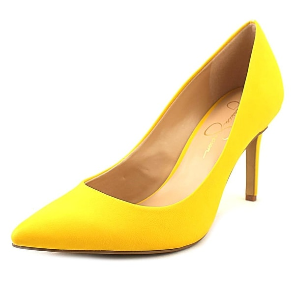 a0fa5b3f770d Shop Jessica Simpson Levin Women Pointed Toe Synthetic Yellow Heels ...